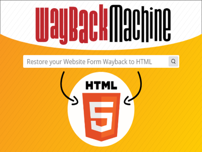 Restore any website into HTML from wayback machine archive