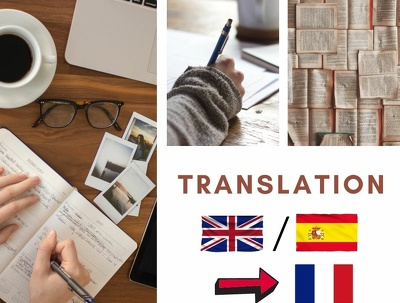 Translate 50 words in Spanish/English into French