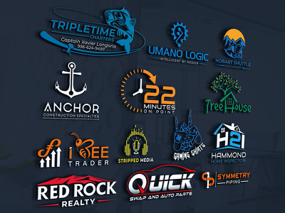 Do professional logo design +Unlimited revisons+Favicon+Artwork