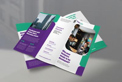 Design trifold brochure