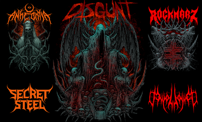 Raw your death metal logo or design a new one