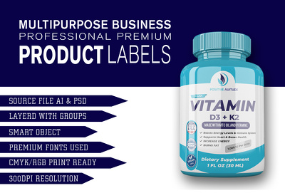 Design professional product label or packaging