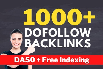 Do contextual SEO 100 dofollow backlinks service