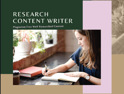 Write 500 words research-based content based on your requirement