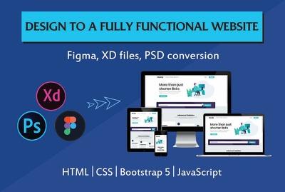 Convert PSD / Figma / XD to responsive HTML