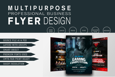 Design professional business flyer for your business