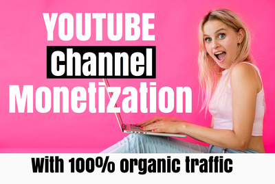 Boost youtube channel to get 1k sub and 4k hour for monetization