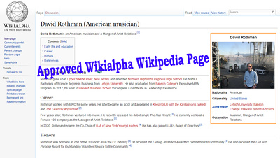 Create Approved Wikialpha Wikipedia page for you