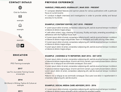 Redesign your resume to look professional and stand out!