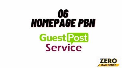 6 homepage PBN guest post From DA50 to DA68 with zero Spam Score