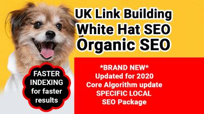 UK Link Building, SEO GOOGLE Strategy, white hat & Organic SEO