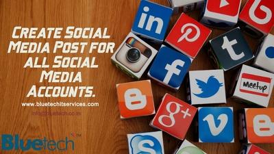 Create 10 Professional social media post