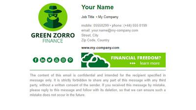 Design a simple email signature