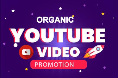 Do organic YouTube video promotion