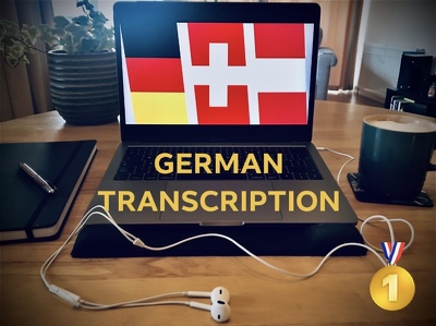 Transcribe your 60min GERMAN audio file