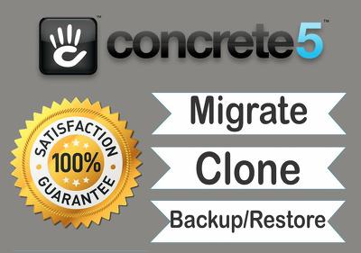 Backup, clone, migrate Concrete5 website