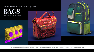 Create a 360 3D rendering of your bag design