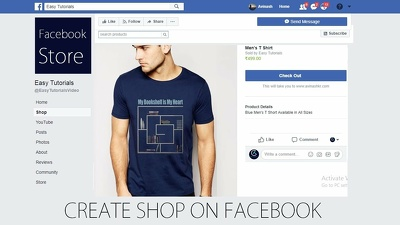 Set-up Facebook shop, store and add products.