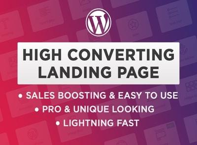Design WordPress Landing Page