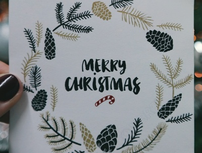 Handwrite 20 personalised Christmas cards for your customers