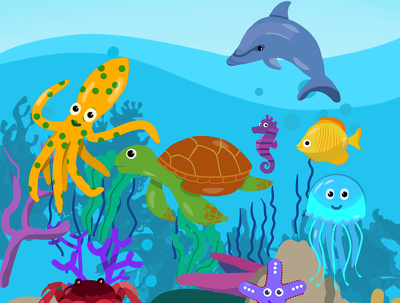 Create 1 flat illustration for a children's book