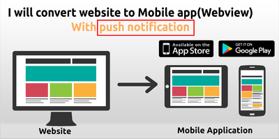 Convert your website in to mobile app