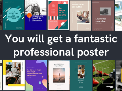 Design a professional poster
