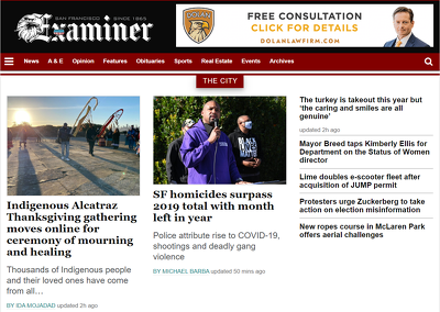 Get you Featured on SF Examiner- SFExaminer.com