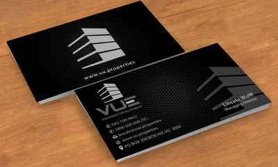 Design professional double sided business cards