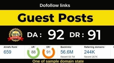Dofollow guest post on authority blog DA 90+ site