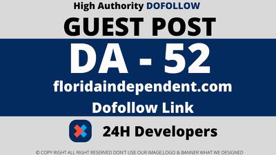 publish a Guest Post on - floridaindependent.com