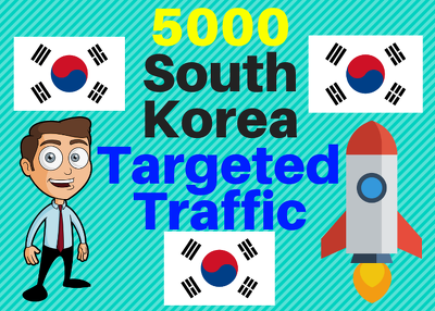 Provide You 5000 South Korea Country Targeted Traffic
