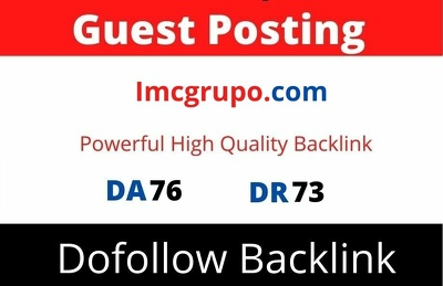 Publish guest post on Imcgrupo DA 76 with Dofollow link