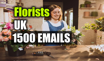Florists Email Database, Email list 1500 Email Addresses