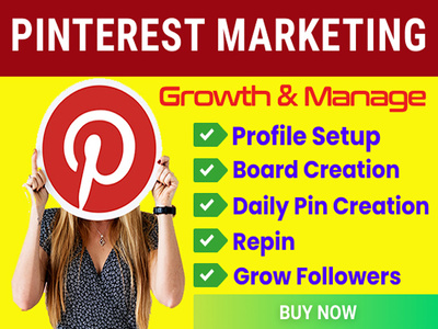 do professional pinterest marketing, manage and growth