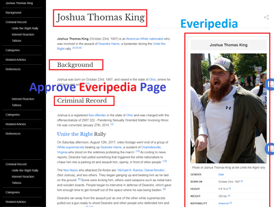 Create Everipedia Wiki Biography Page