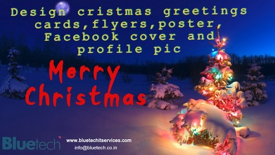 Design Christmas greetings cards, Poster, flyers, Logo, Fb Cover