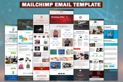 Design Mailchimp template newsletter for email marketing
