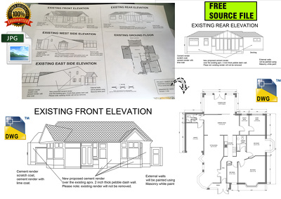 Redraw PDF file, sketches, drawings or blueprints in CAD DWG