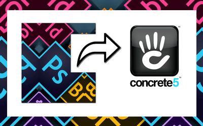 Convert any graphic design to concrete5 website