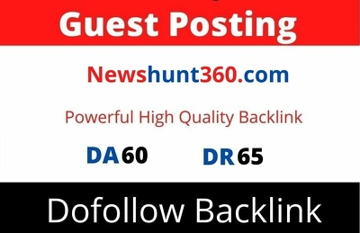 Publish guest post on Newshunt360 DA 60 with Dofollow link
