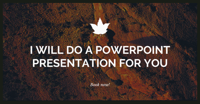 Do a PowerPoint presentation following your briefing