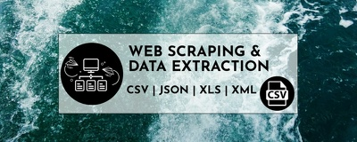 Scrape websites to an Excel file, CSV, JSON, XML and more