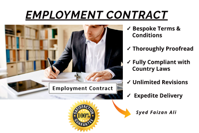 Write a Bespoke and Meticulous Employment Contract / Agreement