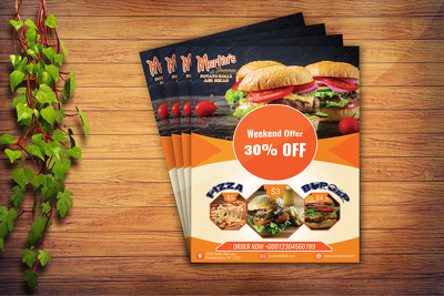 Do a unique and food flyer or poster and any flyer design
