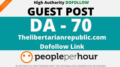 Guest Post on Thelibertarianrepublic com DA70