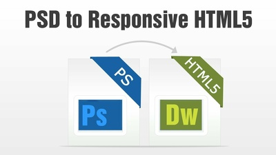 Convert a PSD to responsive HTML5+CSS3(PSD to HTML5 )