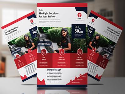 Do creative business flyer poster or event flyer design