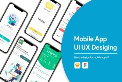 Do a professional UI UX design for mobile app