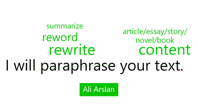 Manually rewrite or paraphrase your text of up to 1000 words